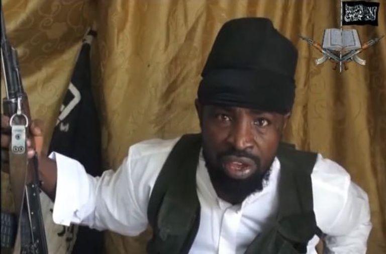 Fotograma do líder do Boko Haram, Abubaker Shekau.