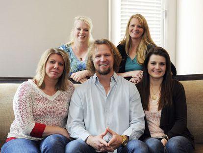 Kody Brown e suas quatro mulheres, em Las Vegas, em julho.