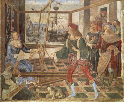 'O regresso de Ulisses', obra de 1508-1509 de Bernardino Pinturicchio, exposta na National Gallery.