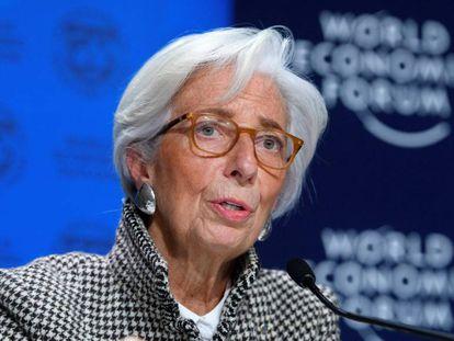 Diretora-gerente do FMI, Christine Lagarde, em Davos.
