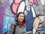 Irací Hassler, alcaldesa electa de la comuna de Santiago. Es la primera candidata del Partido Comunista en ser electa en la comuna de Santiago. Santiago, Chile. 20 de Mayo, 2021.