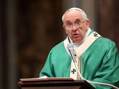 O Papa na Basílica de São Pedro.