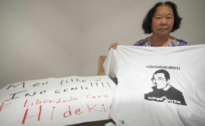 Helena Harano, mãe do ativista Fábio Hideki.