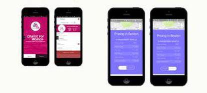 Imagem do aplicativo de transporte para mulheres.