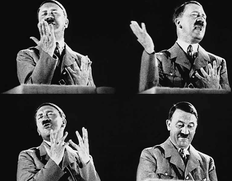 Hitler confiava tanto na sua oratória que participou de mais de 500 atos eleitorais, a maioria comícios.