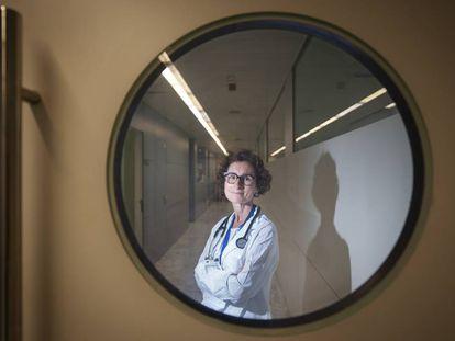 Teresa Macarulla, no hospital Vall d'Hebron Institut d'Oncologia, em Barcelona, em julho último.