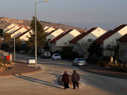 Assentamento de Ofra, na Cisjordânia.