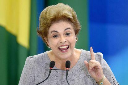 A presidenta Dilma Rousseff, ao discursar nesta terça-feira.