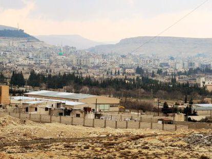 Yabrud em uma imagem da agência síria Sana.