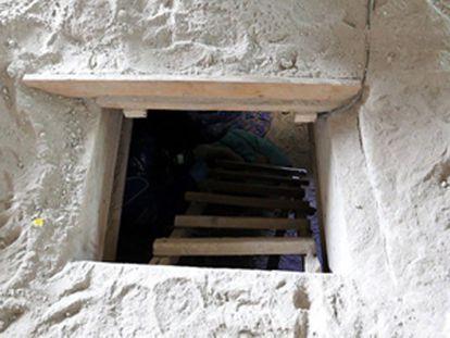 Saída do túnel pelo qual 'El Chapo' escapou.