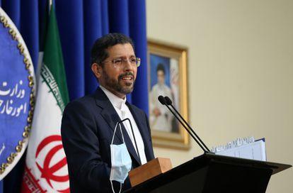 O porta-voz da chancelaria iraniana, Saeed Khatibzadeh, em outubro passado, em Teerã.