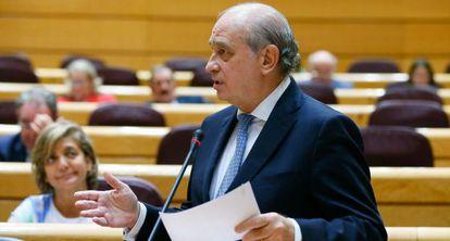 O ministro do Interior, Jorge Fernández Díaz, no Senado.