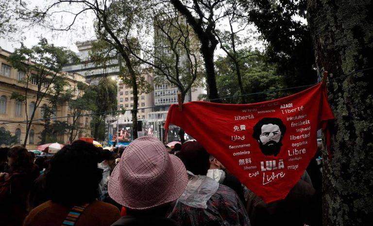 Festival de música Lula Livre, em São Paulo, no dia 2 de junho.