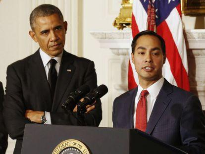Barack Obama e Julián Castro.