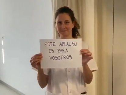 Frame de um vídeo compartilhado pelos funcionários do Hospital Mateu Orfila