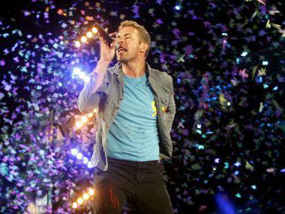 Chris Martin, da banda Coldplay.