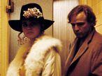 Maria Schneider e Marlon Brando em uma cena de 'O Último Tango em Paris'.