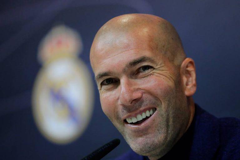 Zinedine Zidane, em uma coletiva de imprensa com o Real Madrid, no ano passado.
