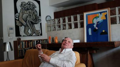 O escritor António Lobo Antunes, em sua casa de Lisboa na passada semana.