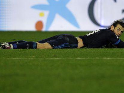 Bale na partida contra o Valencia.