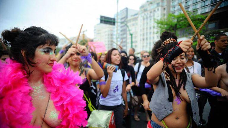 Marcha das Vadias, no Rio de Janeiro, em 2014