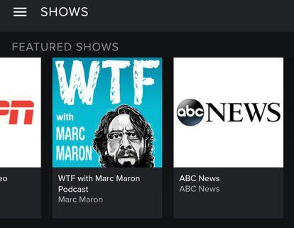 Oferta de conteúdo em vídeo no aplicativo do Spotify para Android.