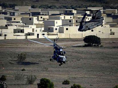 Manobras da OTAN em Zaragoza (Espanha) nesta quarta-feira.
