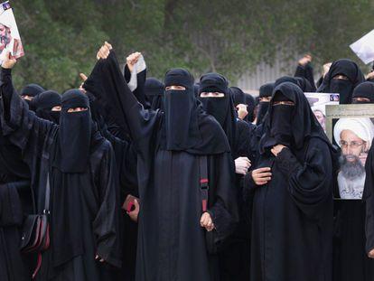 Manifestação no mês de maio, na que se pedia a liberdade para Ao Nimr
