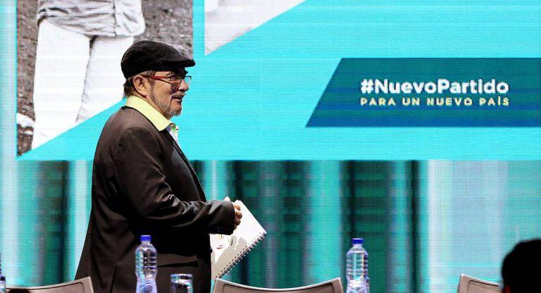 Principal líder das FARC Rodrigo Londoño, codinome Timochenko, durante Congresso.
