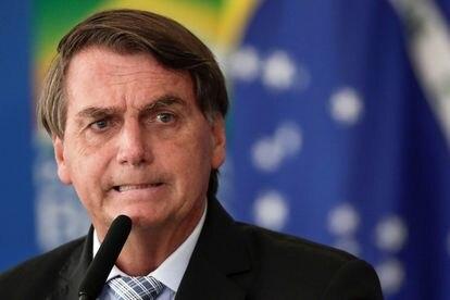 O presidente Jair Bolsonaro em cerimônia em Brasília no dia 10.