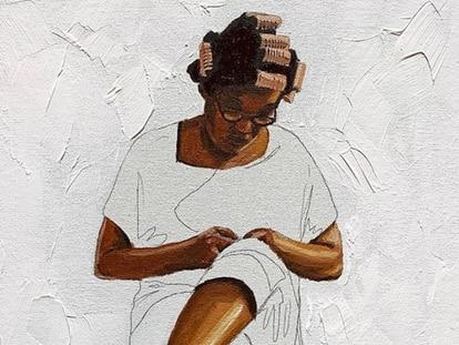 Pintura do artista plástico Robinho Santana.