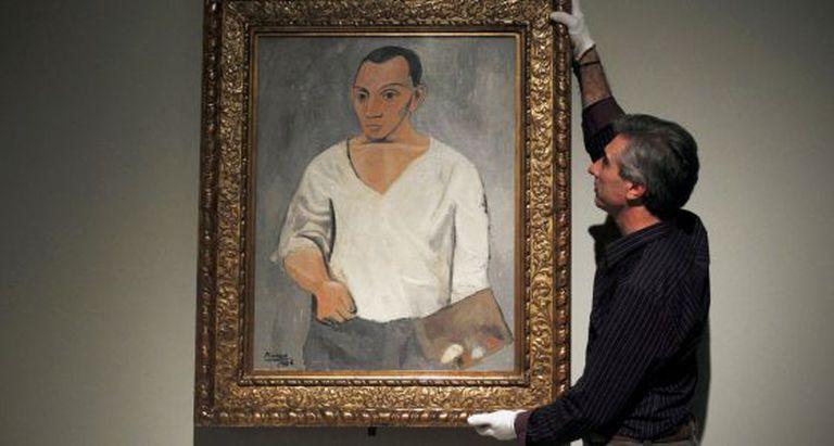 Montagem da exposição 'Picasso no estúdio'.