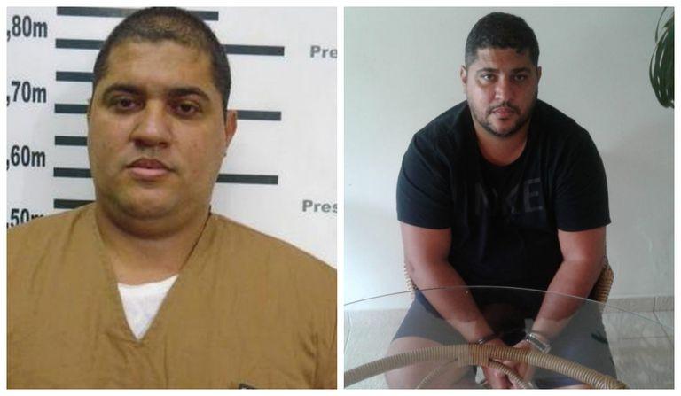 Imagens de André Oliveira Macedo, conhecido como André do Rap, divulgadas pela polícia.