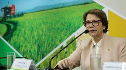 A ministra Tereza Cristina.