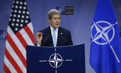 O secretário de Estado dos EUA, John Kerry, em Bruxelas.