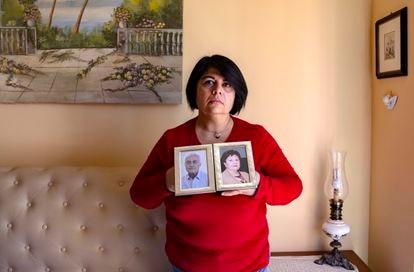 Caterina de Lucia perdeu os pais nesta primavera em Brescia (Itália).