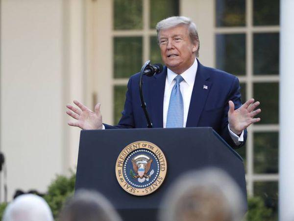 El presidente de EE UU, Donald Trump, este miércoles en la Casa Blanca.