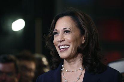 Kamala Harris durante as primárias democratas.