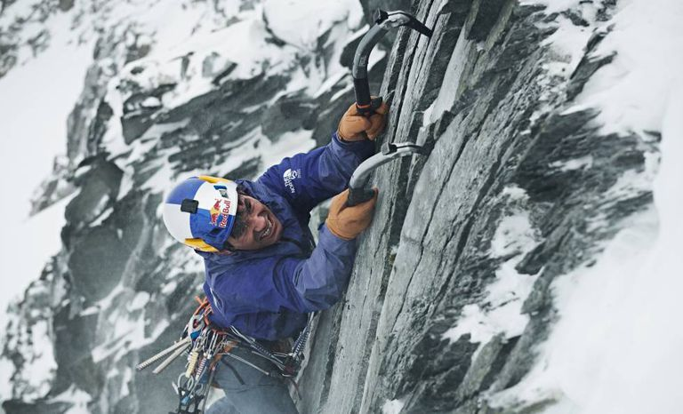 David Lamba, escalando em Stubai (Áustria) em 2018.