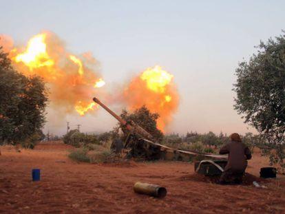 Conflito da guerra civil na Síria.
