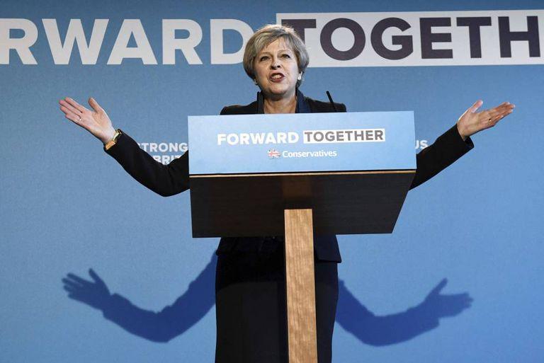 Theresa May apresenta o seu programa eleitoral.