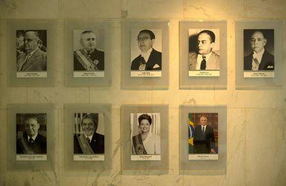 Galeria de presidentes no Planalto. Bolsonaro será o 38º presidente do Brasil.