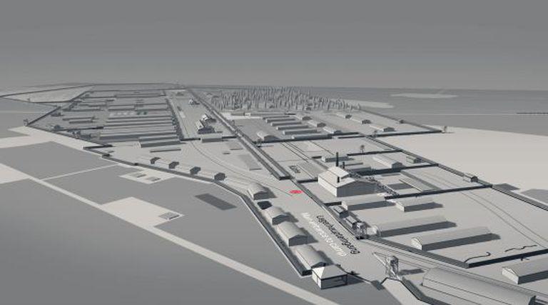 Reconstrução digital do campo de Bergen-Belsen.