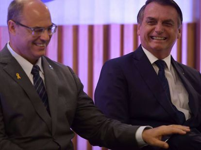 Wilson Witzel e Bolsonaro no Rio.