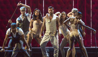 Ricky Martin durante uma apresentação do Grammy.