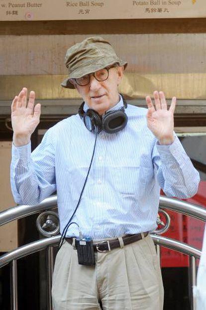 Woody Allen, durante a rodagem de 'Café Society', o 18 de setembro de 2015, em Nova York.