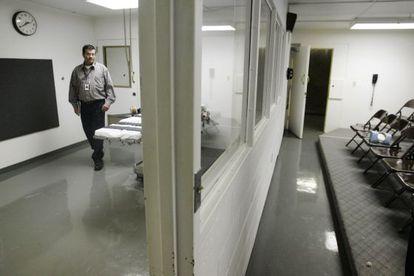 A sala de execuções da prisão de Oklahoma.