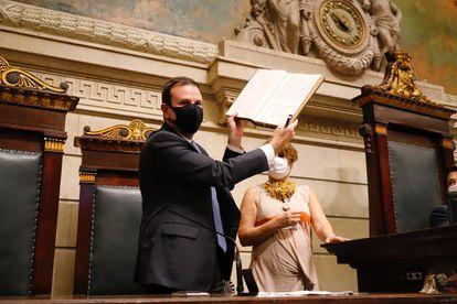 Eduardo Paes (DEM) assume a prefeitura do Rio nesta sexta-feira, 1 de janeiro, na Câmara dos Vereadores.