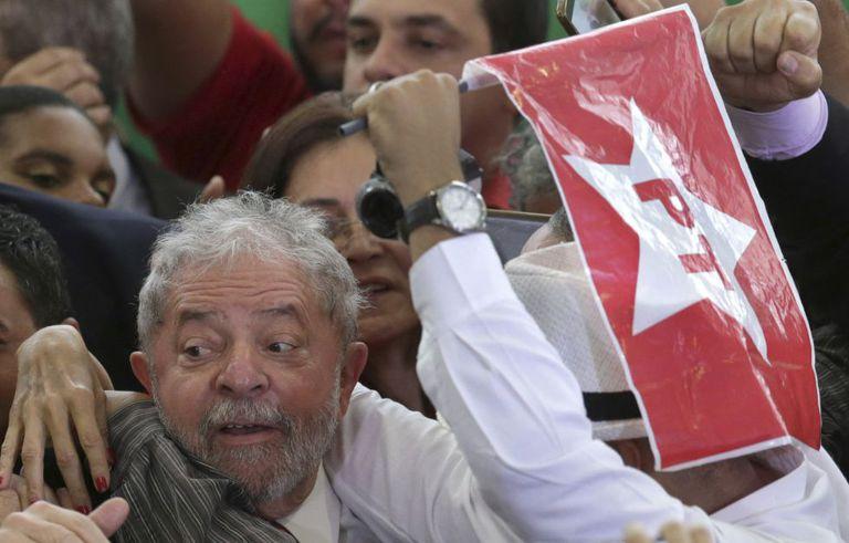 Lula na cerimônia de sua posse, em Brasília.