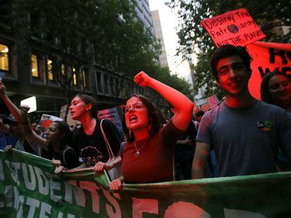 Manifestação contra a falta de medidas de combate à mudança climática, em Sydney (Austrália), em janeiro.